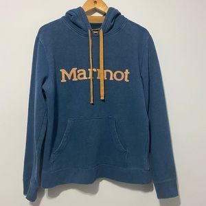 Marmot Pullover Spellout Hoodie size M